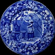 Wedgwood Flow Blue Month Plate *September*