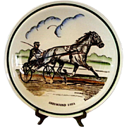 Greyhound Trotting Horse Commemorative Plate
