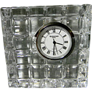 Waterford Crystal Desk or Bedside Clock