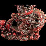 2  Oriental Dragon Figurines