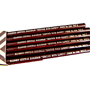 Illinois Central Railroad unused packages of Pencils