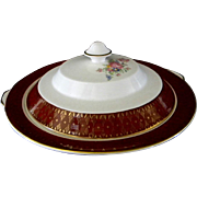 Cronin China Company, **Royal Rajah Maroon Pattern** Covered Bowl