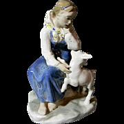 Lomonosov  Sister Alyonushka and Brother Ivanushka Porcelain Figurine