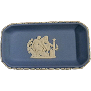 2 Different Wedgwood Jasperware Pin Trays or Dresser Trays  *Bas Relief*