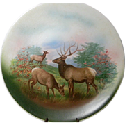 Large Vintage Game Plate with Elk