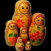 Russian  Matryoshka  Dolls or Nesting Dolls