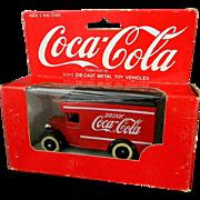 1967 Coca Cola Die Cast Metal Toy Truck in Original Box