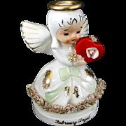 Vintage Valentine's Day Angel Figurine by NAPCO