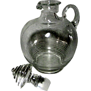 Vintage Large Clear Glass Cruet