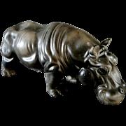Enesco Ceramic Lifelike Hippopotamus