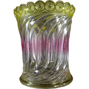 1904 Beaded Swirl and Disc Spooner or Celery Vase by U. S. Glass Company