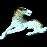 Porcelain  Lomonosov  Russian Borzoi Dog Figurine