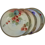 Artist Signed Hand Painted Sandwich Dishes *Silesia