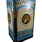Vintage Monarch Cocoa Tin by Reid & Murdoch & Co.