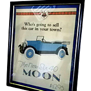 Moon Motor Car Poster or Sales Advertisement