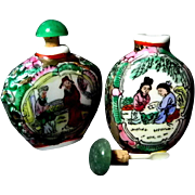 Two Oriental Porcelain Snuff Bottles