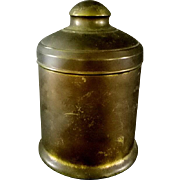 Vintage Tom Keene Brass Cigar Humidor