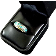 Turquoise and Silver Ring Size 7