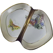 Exceptional Nippon Relish Tray with Butterflies