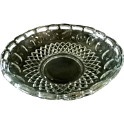 Pierced Fruit Bowl  Clear Glass
