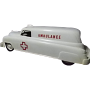 Wyandotte Plastic Ambulance Friction Car