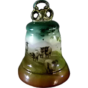 Royal Bayreuth Bell with Farm Scene