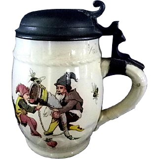 Villeroy Boch Mettlach Stein with Garden Gnomes  3/10L