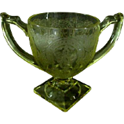 Indiana Glass Horseshoe #612 Yellow Sugar Bowl