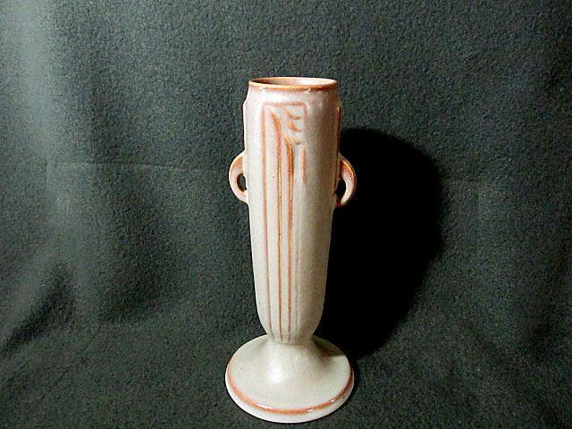 roseville moderne bud vase from carolines on ruby lane. Black Bedroom Furniture Sets. Home Design Ideas