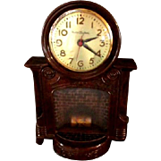 "Mastercrafters ""Fireplace"" Model 272 Electric Clock"