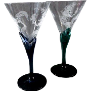 Mermaid Crystal Cocktail or Margarita Glasses
