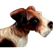 Large Wire  Fox Terrier Figurine