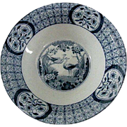 Flow Blue Mongolia Pattern by Johnson Bros. Open Vegetable Bowl