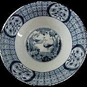 Flow Blue Mongolia Pattern by Johnson Bros. Open Vegetable Bowl