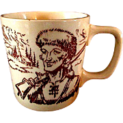Unusual Davy Crockett Ceramic Mug