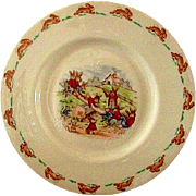 Bunnykins See Saw Pattern Sandwich Dish