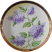Studio Hand Painted Bavarian Cabinet Plate  ** Lilacs**