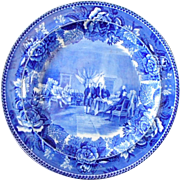 "Wedgwood Flow Blue ""The Signing of the Declaration"" Cabinet Plate"