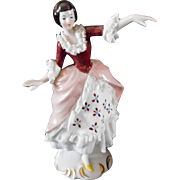 Pretty & Delicate Beautiful Girl Porcelain Figurine made in Germany