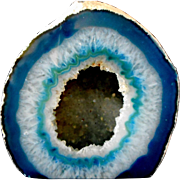 Beautiful Blue Polished Geode