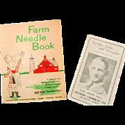 Two Very Unusual Vintage Farm Needle Books