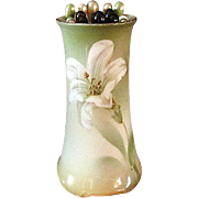 R.S. German Hat Pin Holder with Easter Lilly