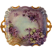 Stunning Hand Painted Limoges JPL Dessert Tray
