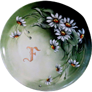 Hand Painted Monogrammed Haviland Cabinet Dish