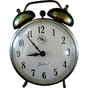 Vintage Two Bell Alarm Clock made in the USA