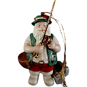 Lenox Fishing Santa Christmas Ornament