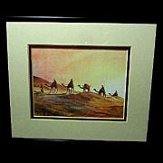 Mystical Desert Scene Print