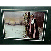 "Original 1898 Ullman ""Evangeline""  Portrait  Tribute to Longfellow's Poem"