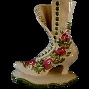 Cash Family Blue Ridge High Top Buttoned Shoe Vase