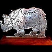 Wilton Armetale Rhinoceros Door Stop